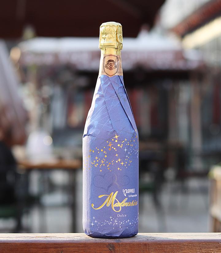 7°意大利万多金牌美莎甜白起泡葡萄酒(货号E 蓝)750ml