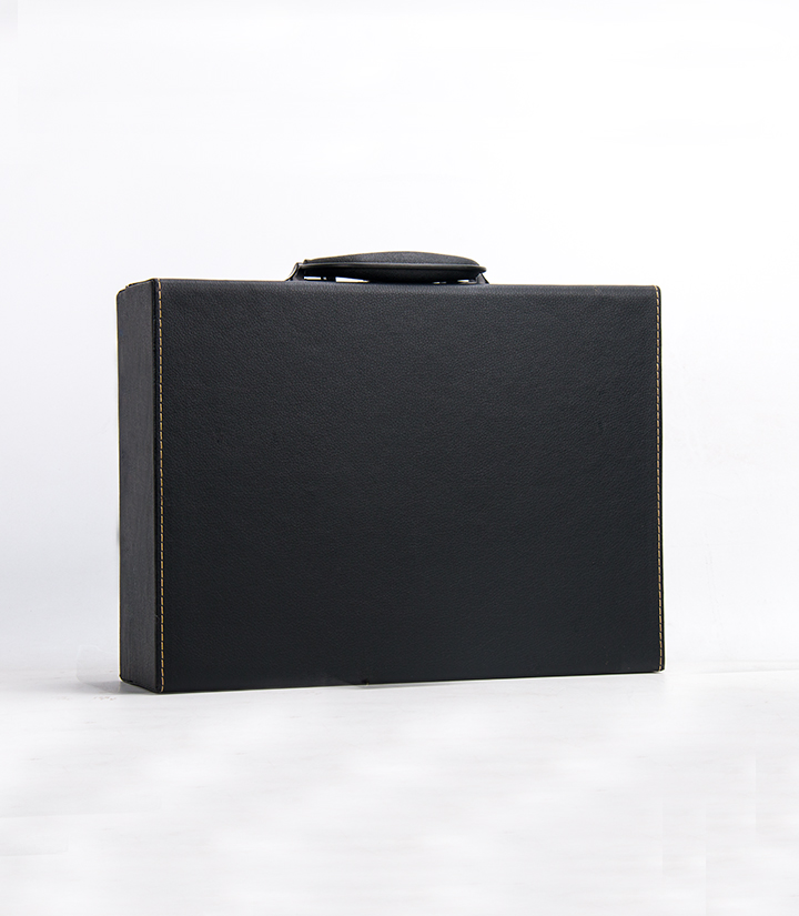 红酒双支皮盒(黑吸塑板)
