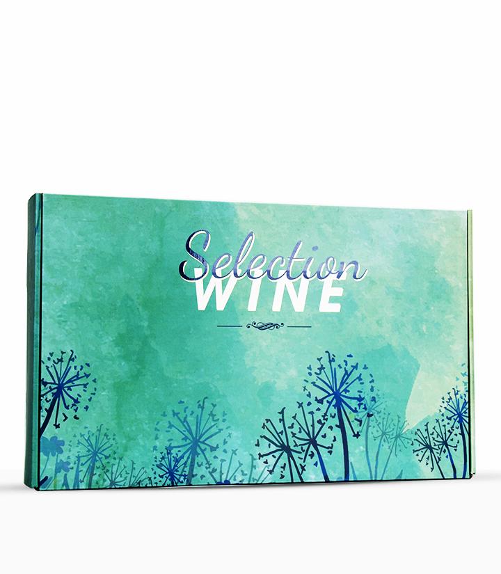 六支红酒卡盒蓝色花语