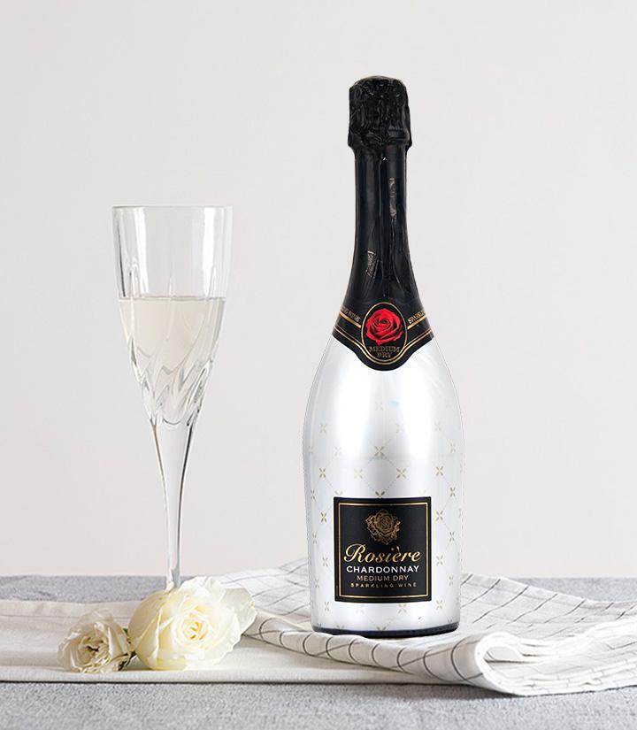 11°法国玫瑰霞多丽中白起泡葡萄酒750ml