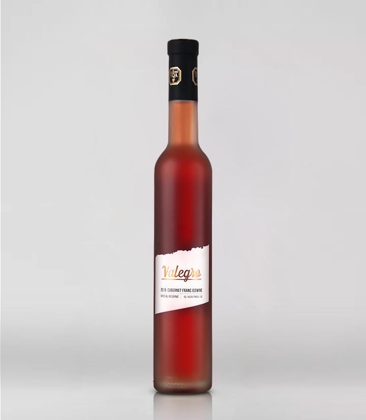 10°加拿大黑马瓦莱格罗2015品丽珠珍藏红冰葡萄酒375ml